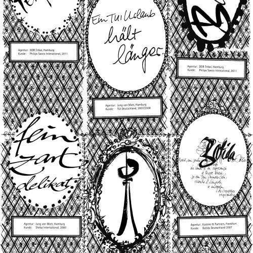 Graphic Lettering Halt Langer