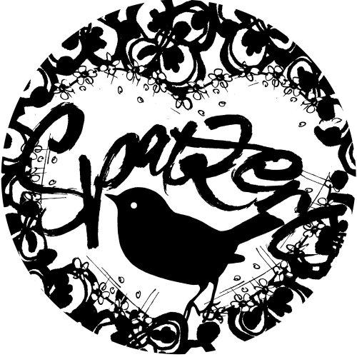Graphic spatze bird