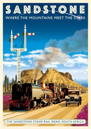 A poster for Sandstone Steam Railroad