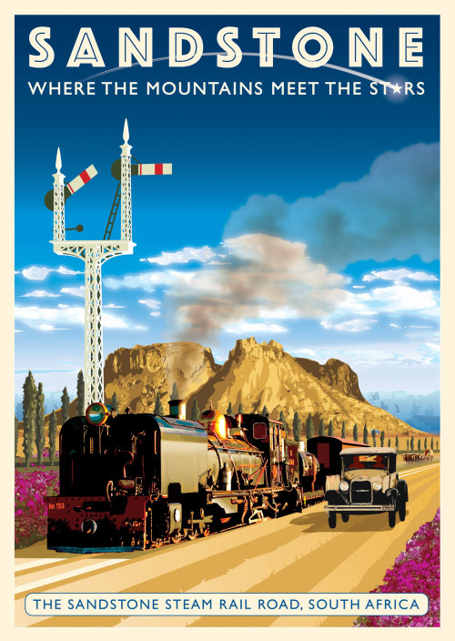 A poster for Sandstone Steam Railroad