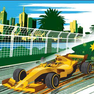 Formula One Racing Car at Melbourne