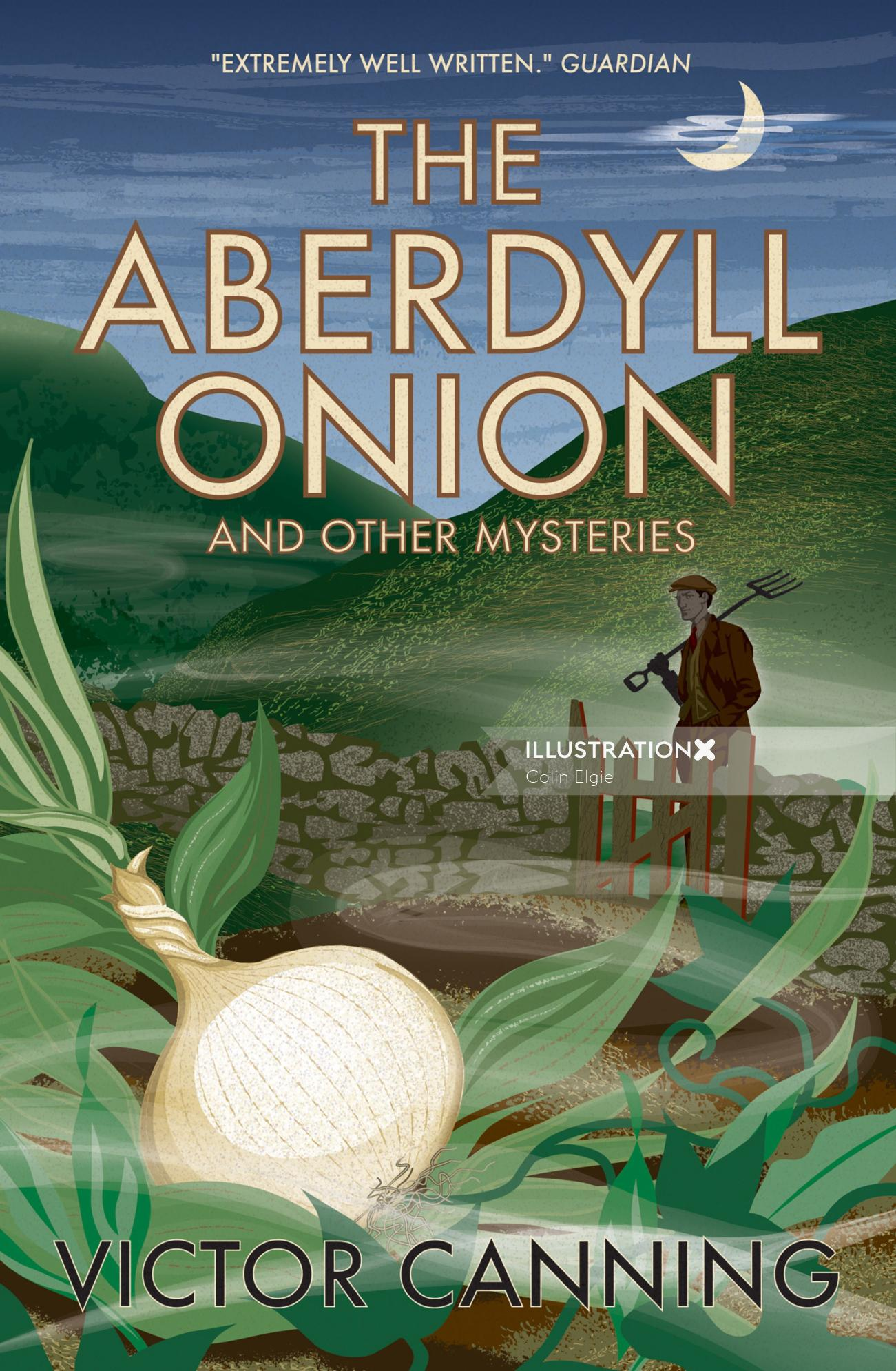 A book cover for a collection of short stories, showing a night time scene set in a mysterious Welsh