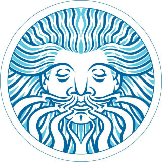 Illustration of the 'Green Man for a book on Beermat Mandalas