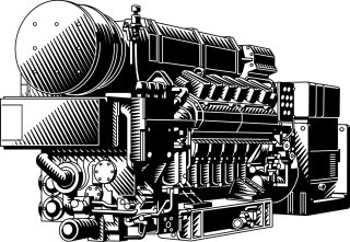 An Illustration of a power generator