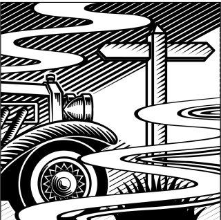 An Illustration of a telegraph newspaper for a motoring column