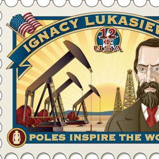 An llustration of Tyskie beer stamp design