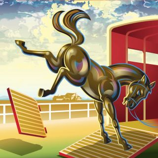 Kicking Horse illustration | Animal style gallery