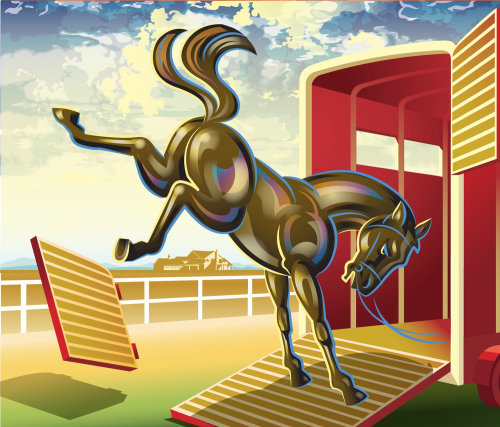 Kicking Horse illustration | Galerie de style animal