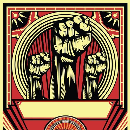 Graphic Illustration of raising hands