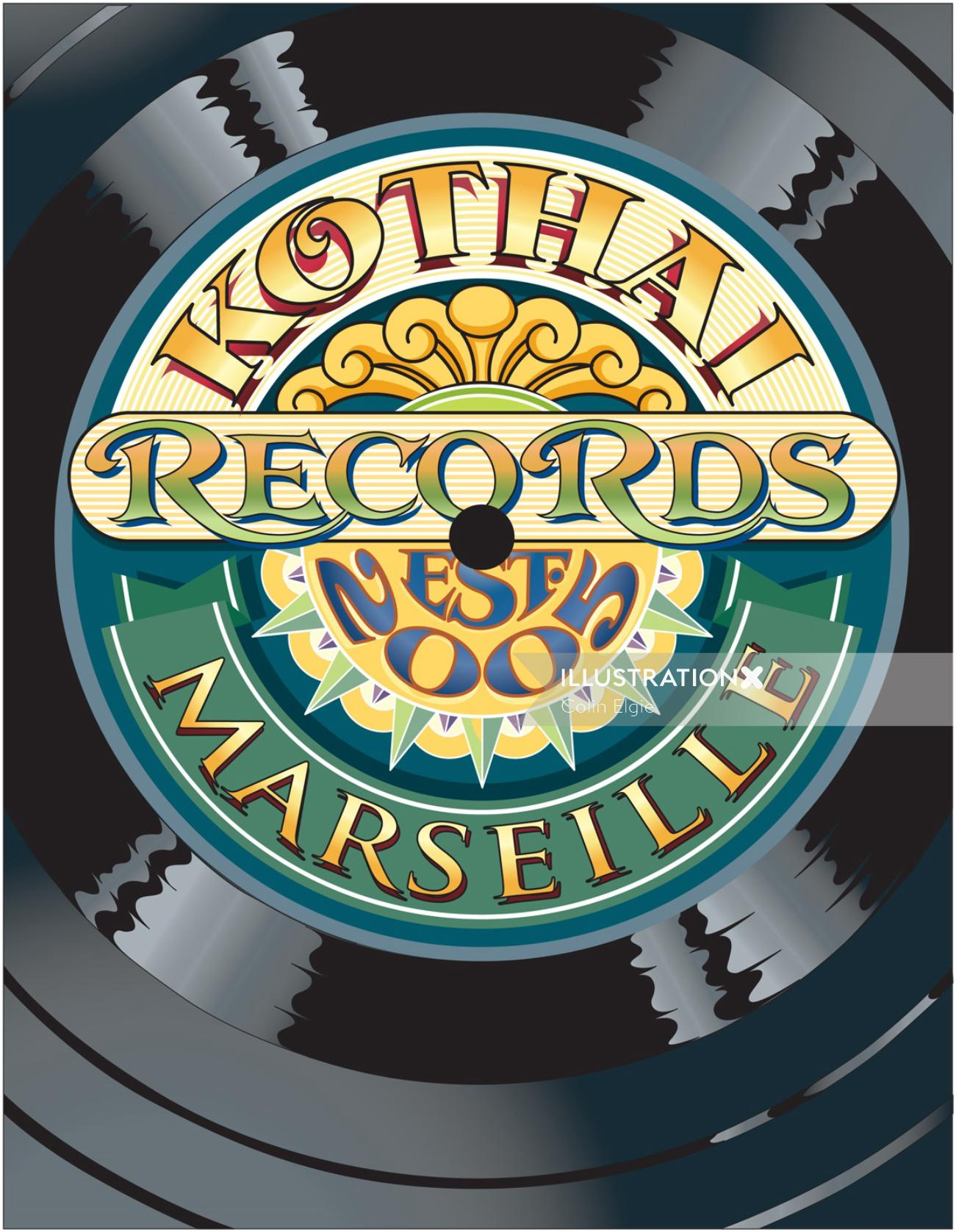 Graphic Kothai Records Marselle