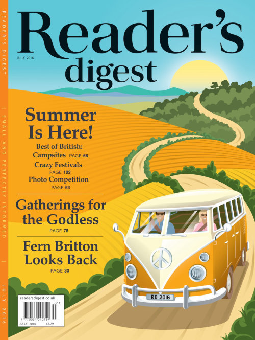 Editorial illustration of Readers Digest