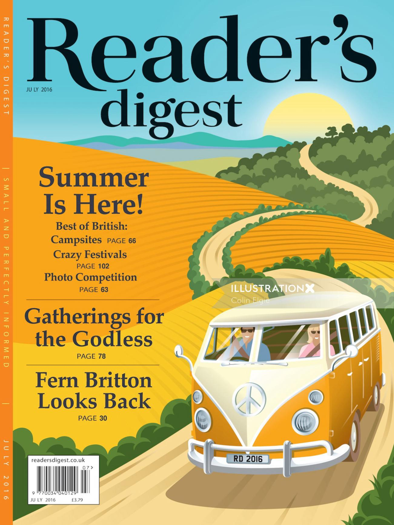 Editorial illustration of Readers Digest
