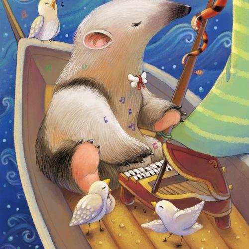 Animal illustration of Pianist