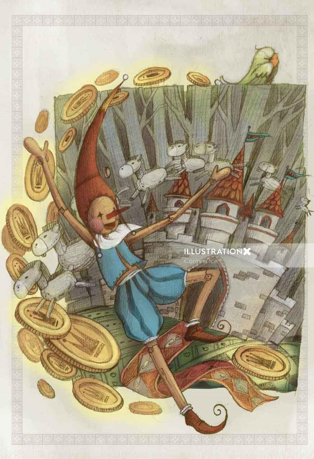 Character design of Pinocchio