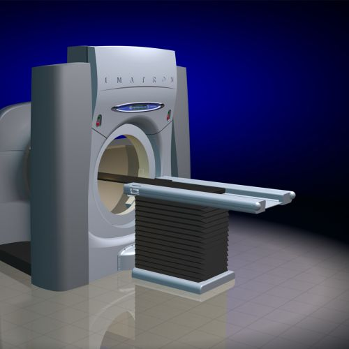 An illustration of CT Scanner machine