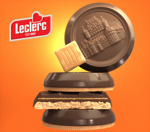 Promotion of Leclerc Caramel Biscuits