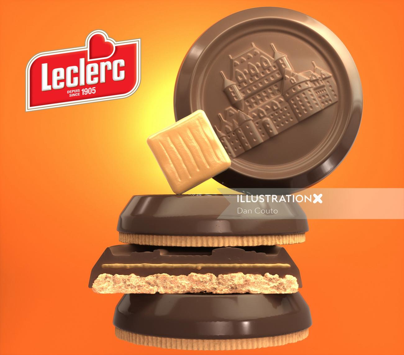 Leclerc Caramel Biscuits