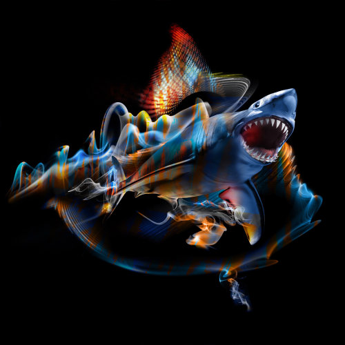 Abstract illustration of Shark fish