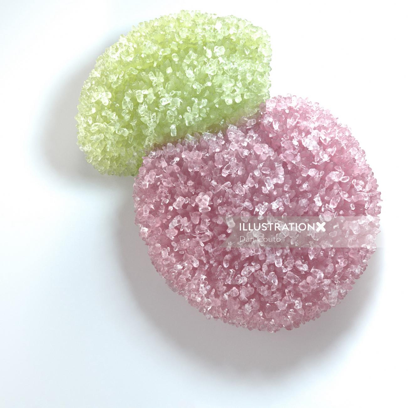 Photorealistic of cherry sour candy