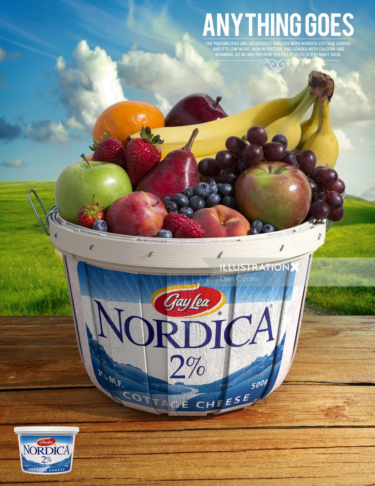 Nordica Fruit Bushel Basket