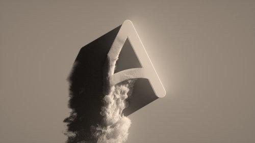 Animation gif of  A alphabet