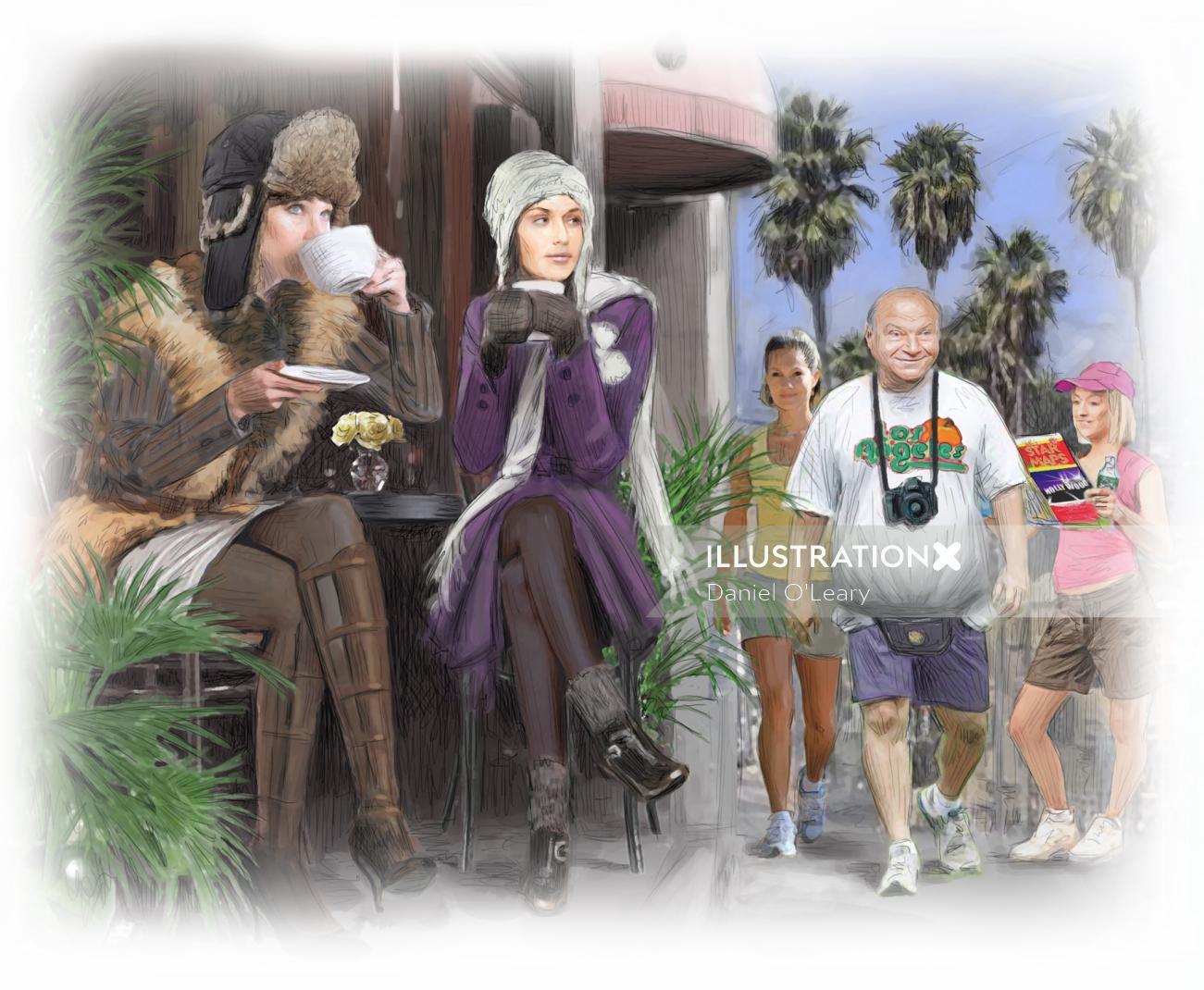 Los Angeles Travel tourists