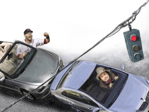Baseball, Johnny Depp, Justine Pedroia Humour photoréaliste