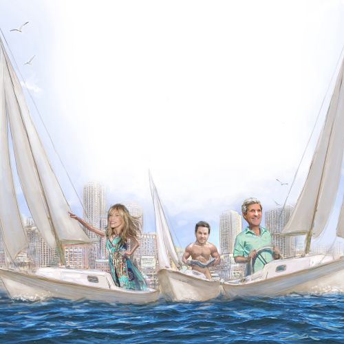 Celebrities vacation sailing