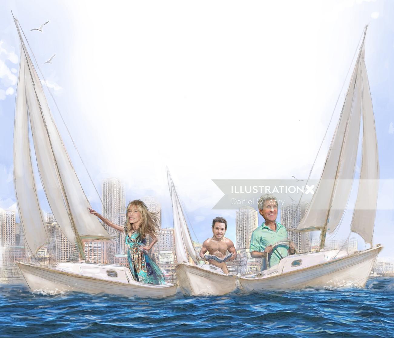 Celebrities vacation sailing