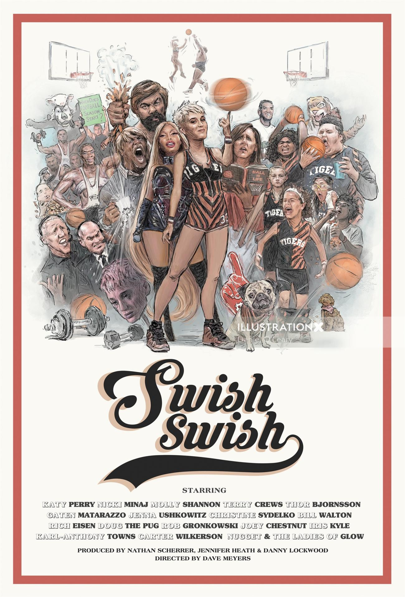 Swish swish Katy Perry poster