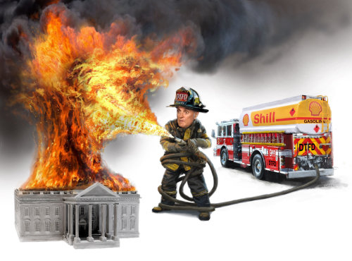 Rudy Giuliani at whitehouse fire