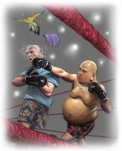 Jimmy Buffet in Boxing ring