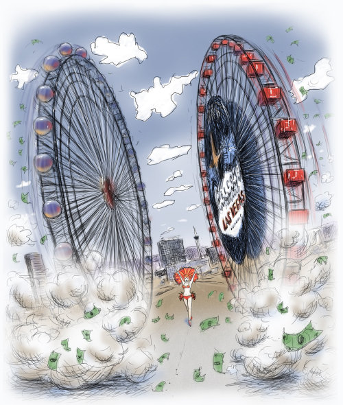 Vegas Ferri Wheels art