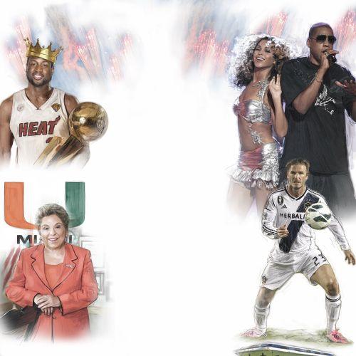 Multi sport collage poster