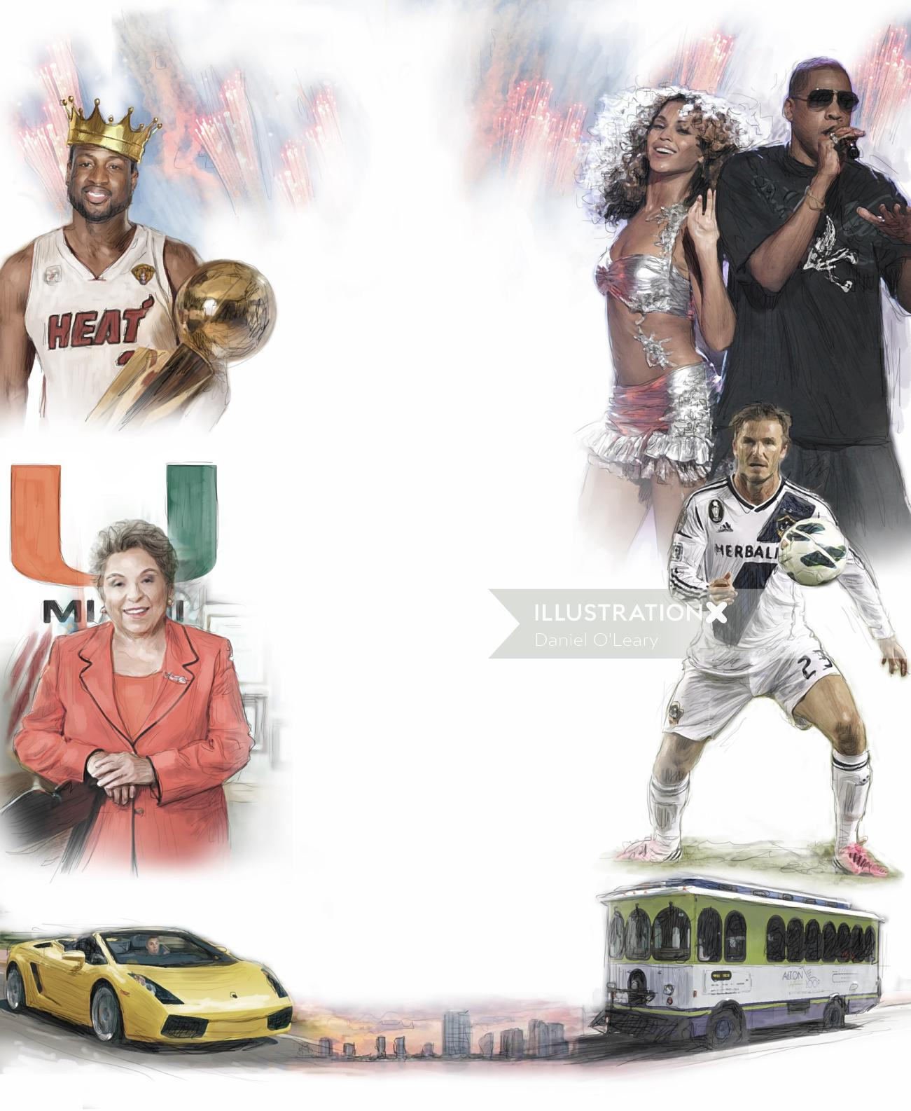 Multi sport collage poster