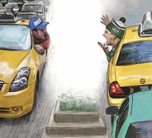 Jets de fútbol americano vs gigantes