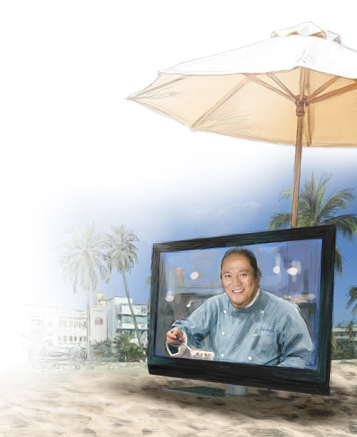 Miami Chef Morimoto beach TV