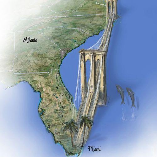 Newyork to Miami Bridge map
