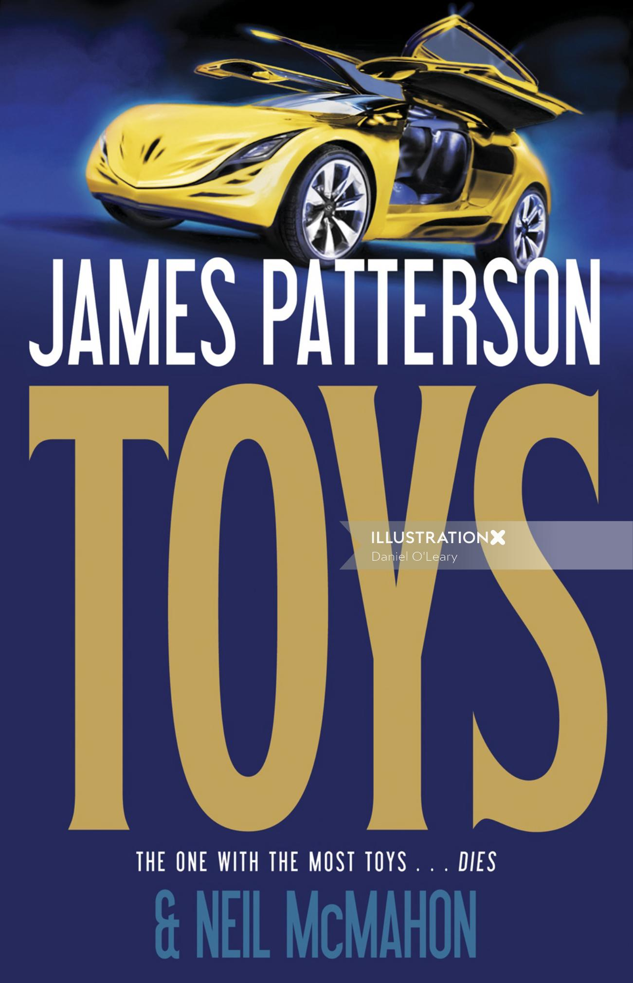 Book cover design of toys