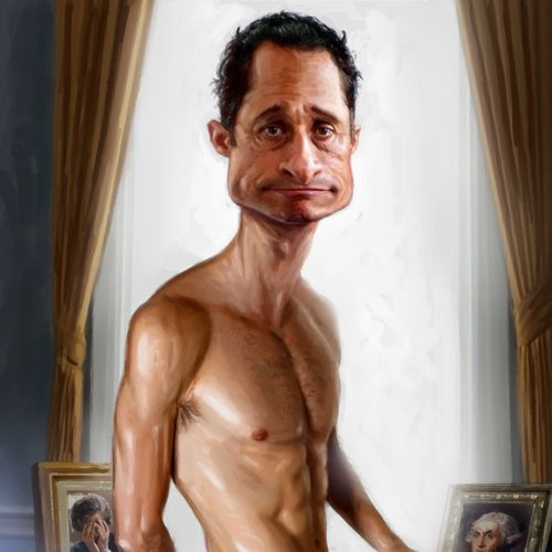 Anthony Weiner sex scandal conceptual cartoon