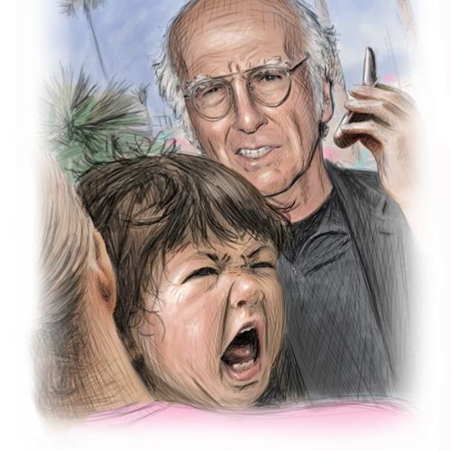 Larry David children humour