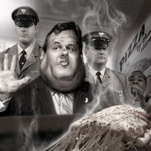 Conceptual Gov Chris Christie Five Slices