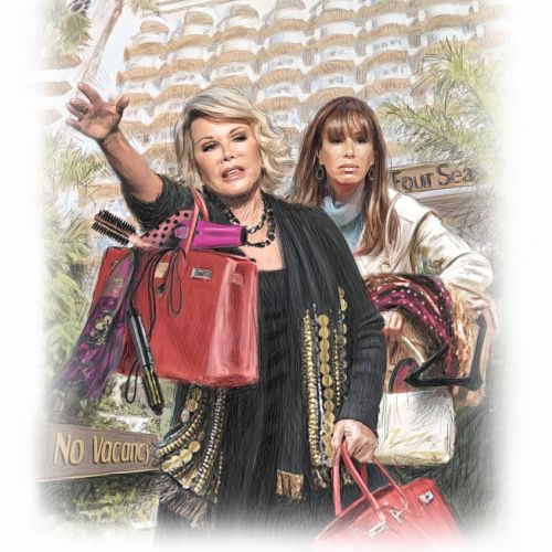Joan Rivers and Melissa Rivers photorealistic