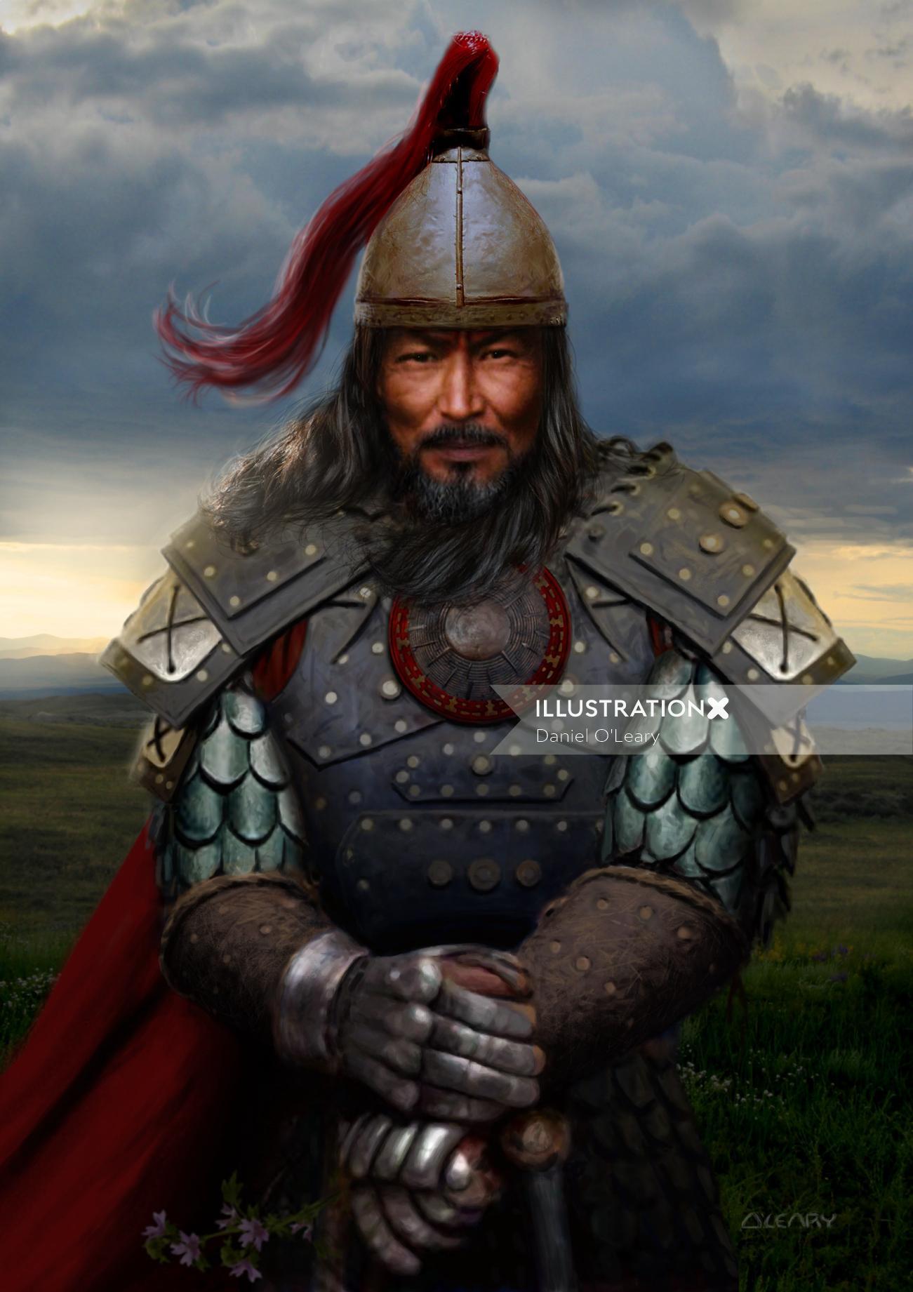 Genghis Khan Historic warriror