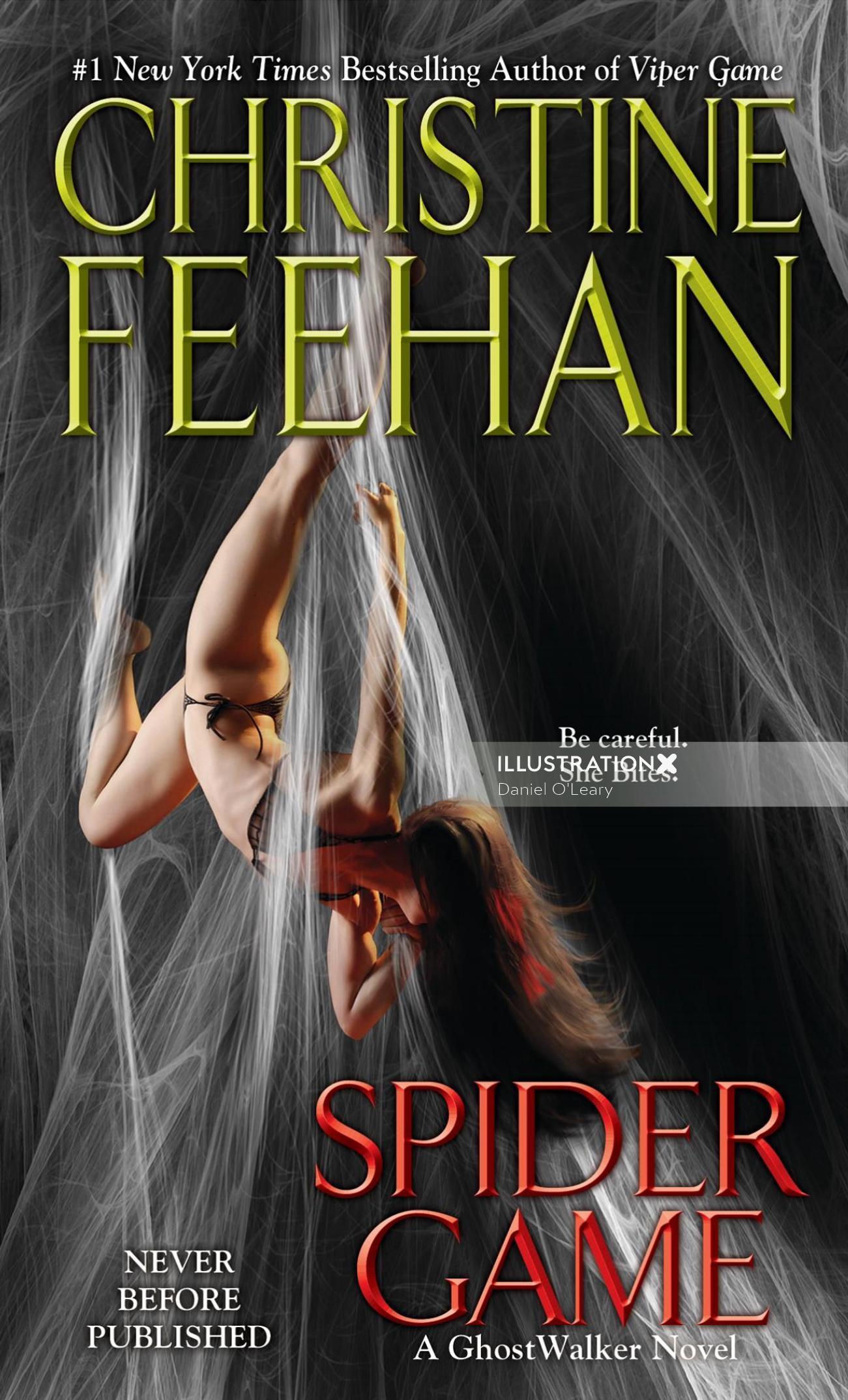 Spider game book cover illustration