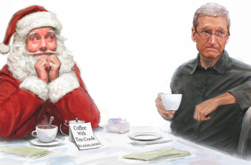 Coffee with Timcook by Santa