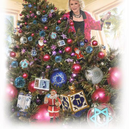 Celebrities decorating christmas tree