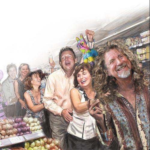 Editorial Rober Plant supermarket