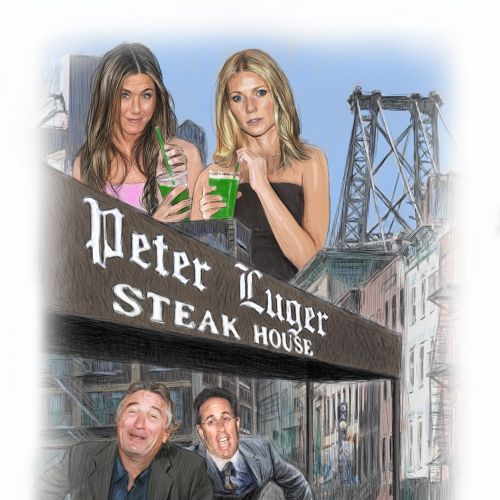 Celebrities at Peter Luger steak house