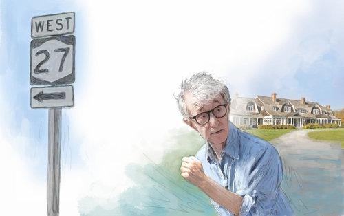 Woody Allen, NYC, Hamptons , Celebrity, wealth, summer, Long Island,